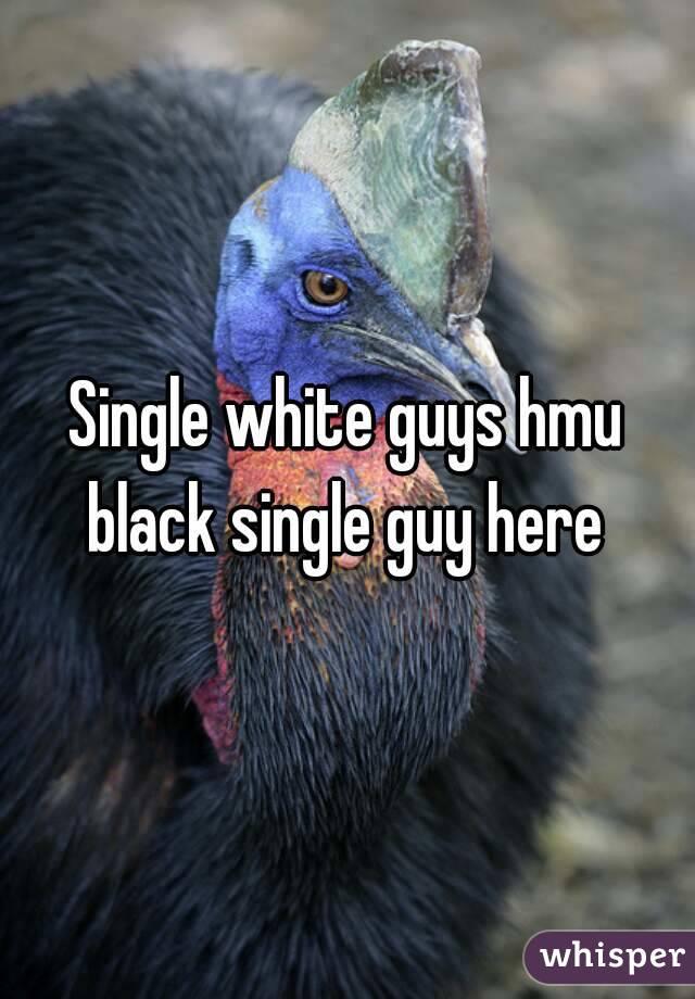 Single white guys hmu black single guy here