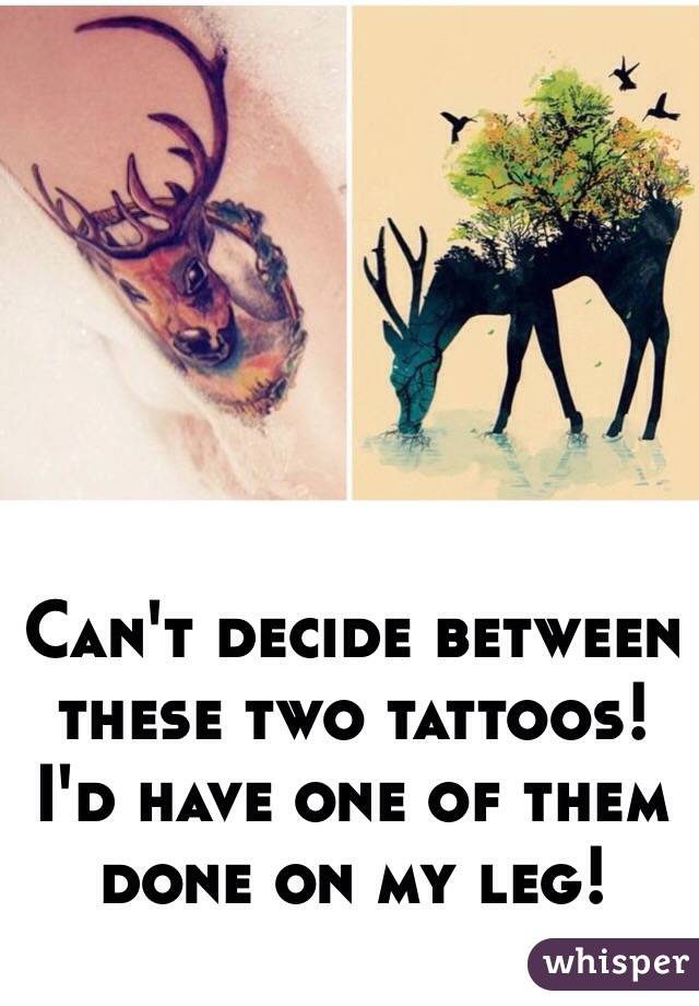 Can't decide between these two tattoos!  I'd have one of them done on my leg!