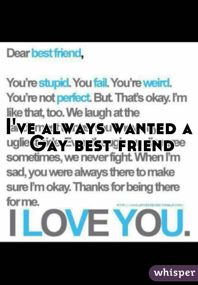 I've always wanted a Gay best friend