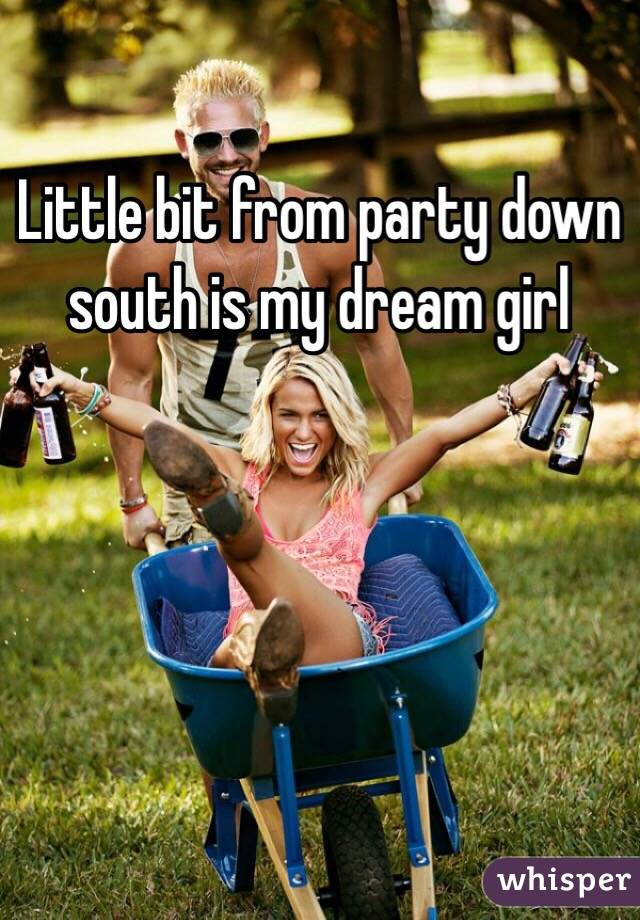 Little bit from party down south is my dream girl