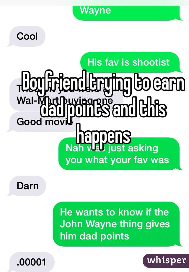 Boyfriend trying to earn dad points and this happens
