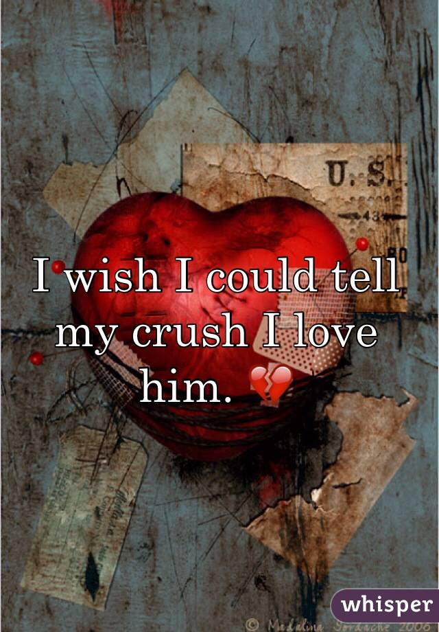 I wish I could tell my crush I love him. 💔