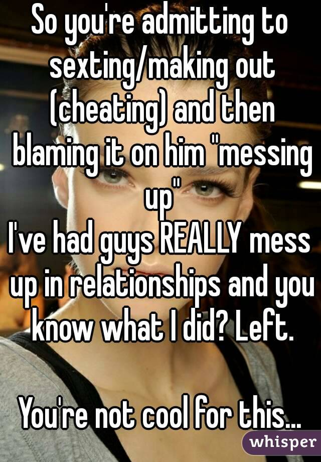 Sexting is not cheating
