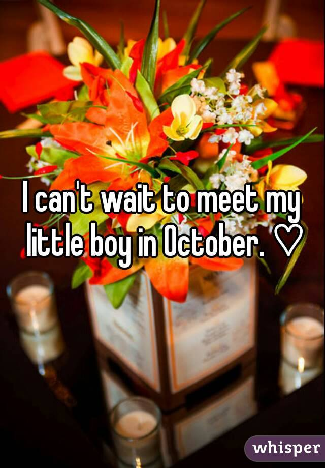 I can't wait to meet my little boy in October. ♡
