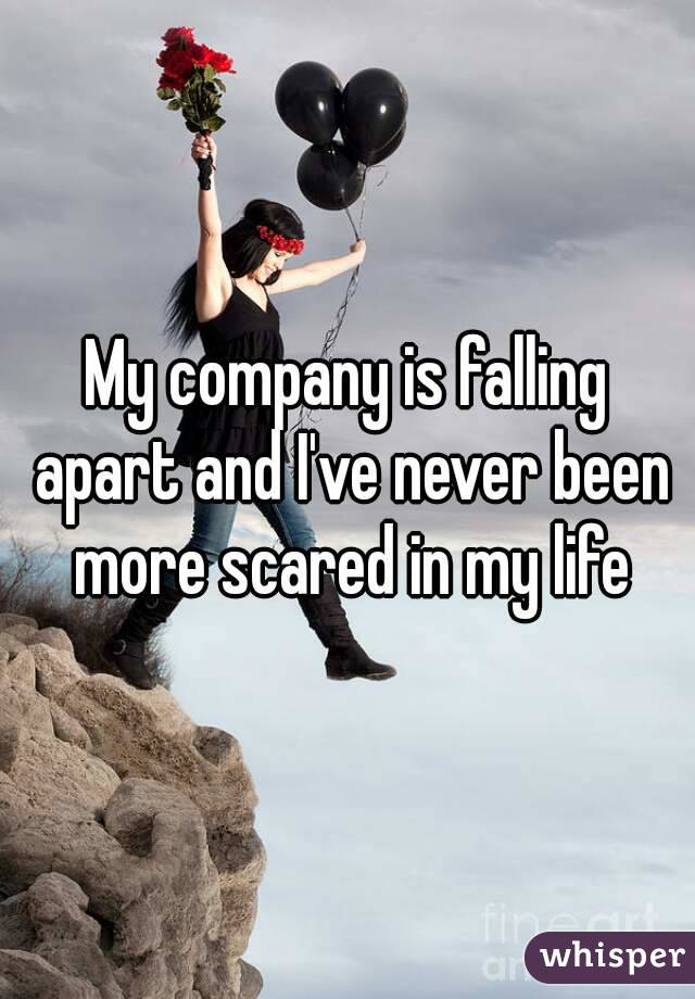 My company is falling apart and I've never been more scared in my life