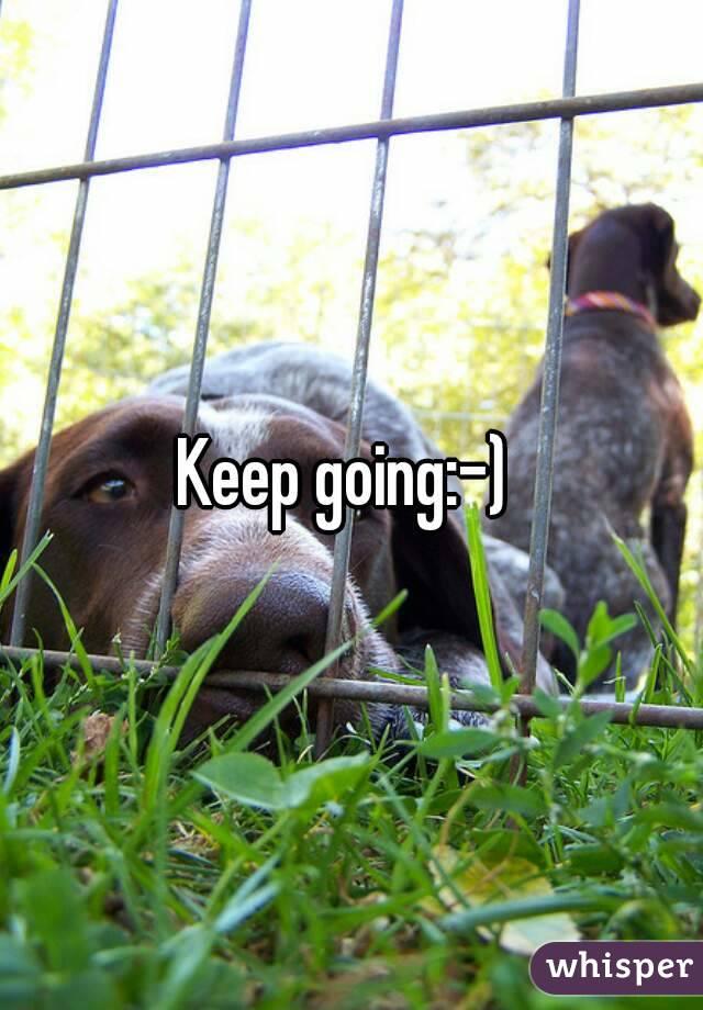 Keep going:-)