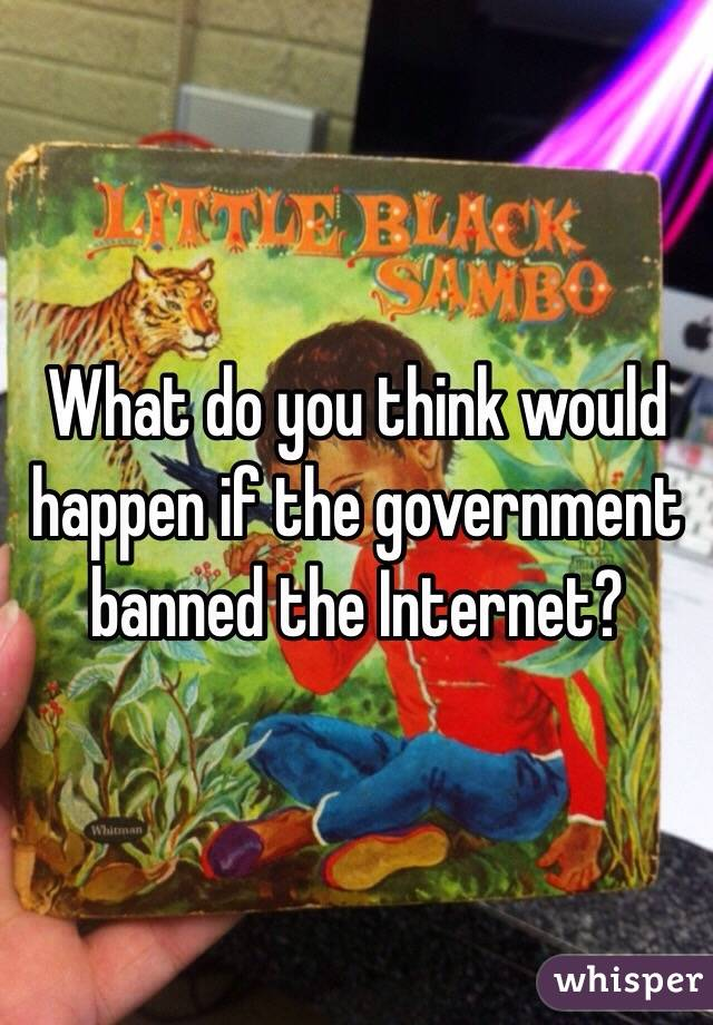 What do you think would happen if the government banned the Internet?