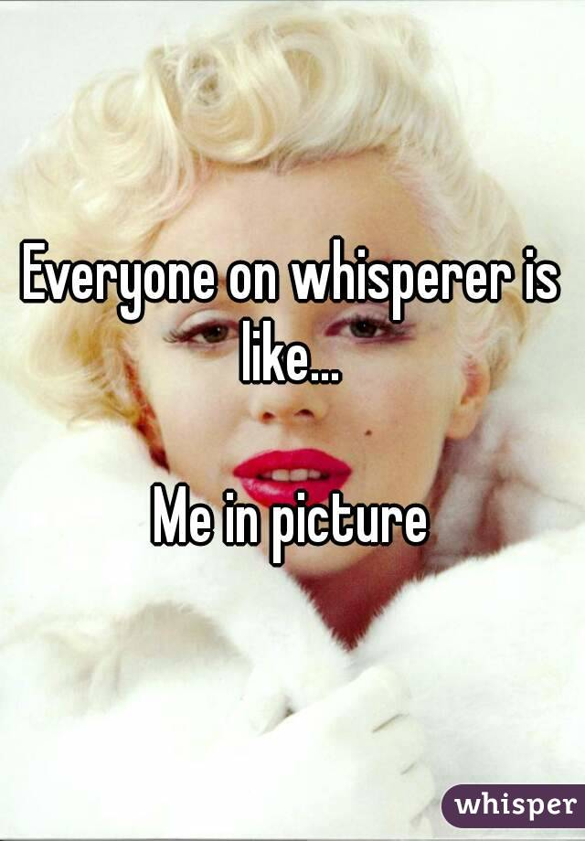 Everyone on whisperer is like...   Me in picture