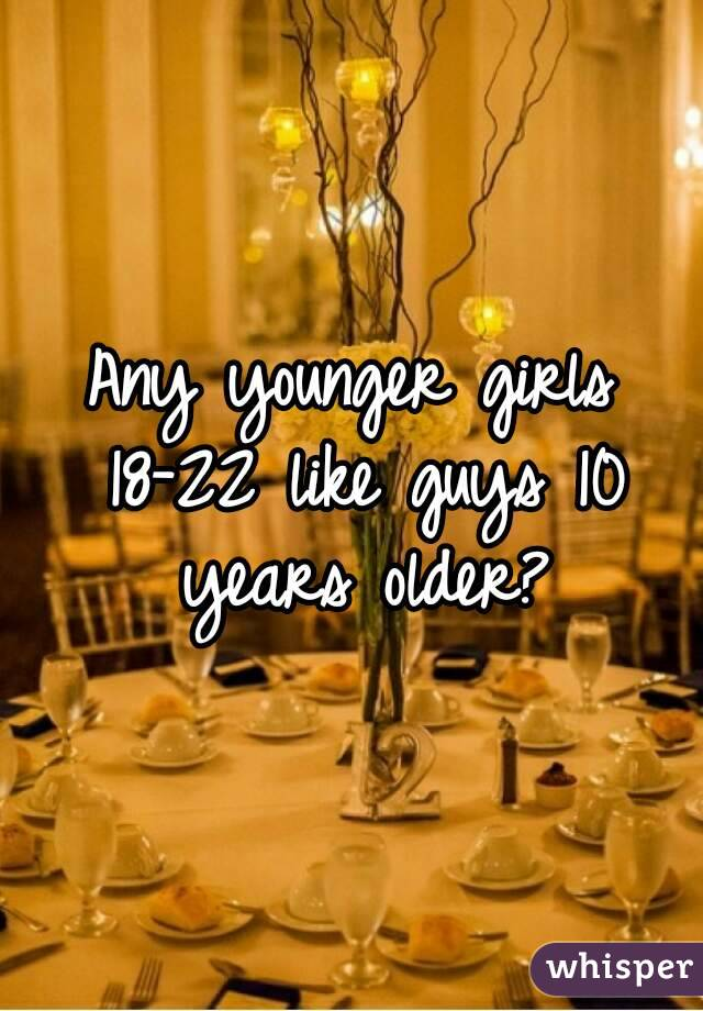 Any younger girls 18-22 like guys 10 years older?