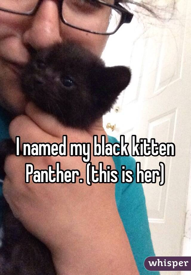 I named my black kitten Panther. (this is her)