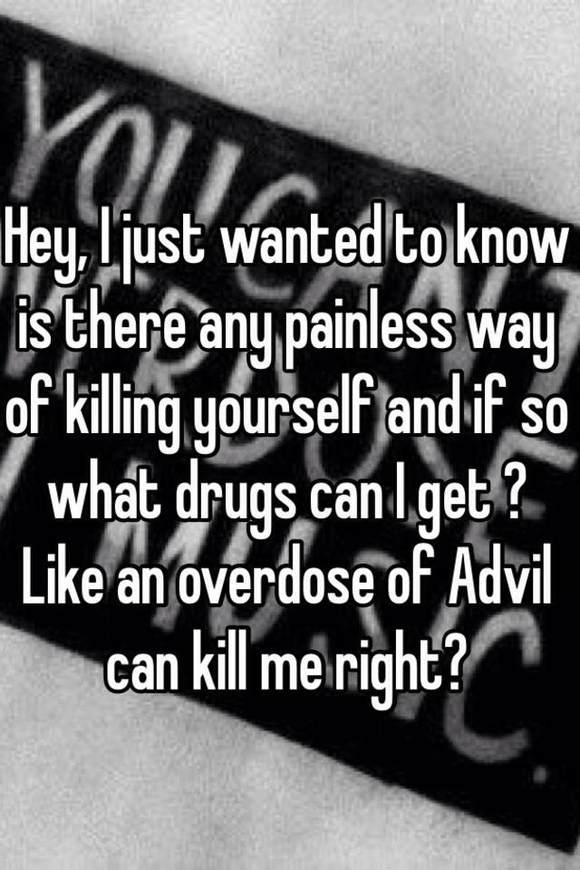 can you overdose on advil