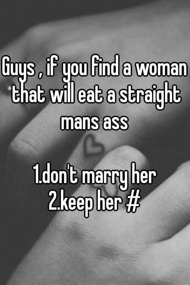 Women eat guys asshole