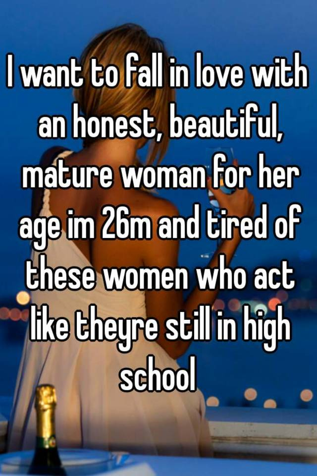 I want a mature women like this