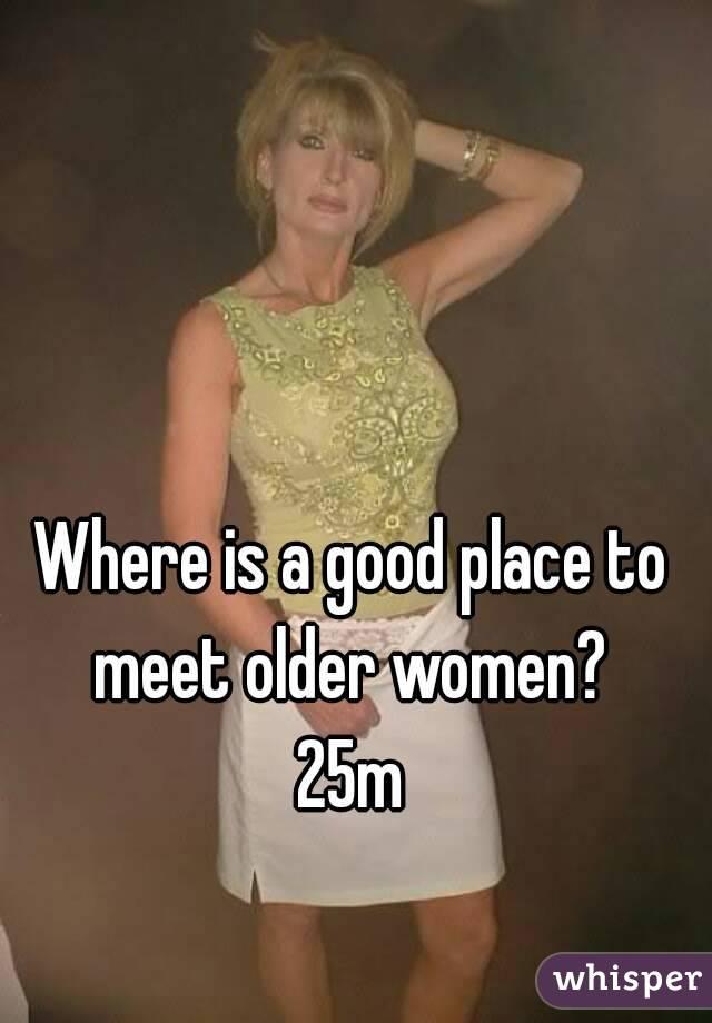 Where can i meet older women