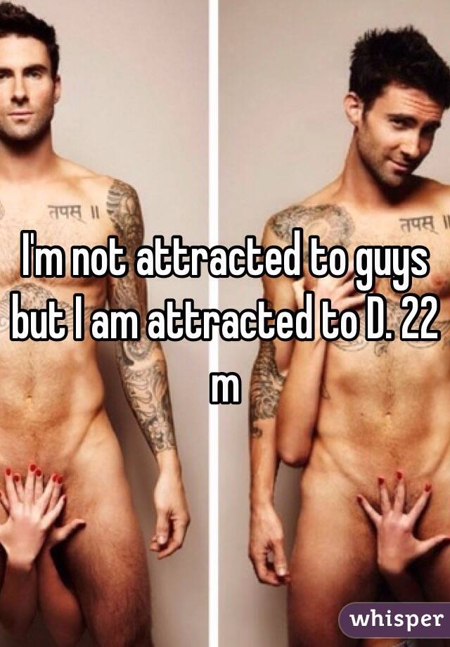 I'm not attracted to guys but I am attracted to D. 22 m