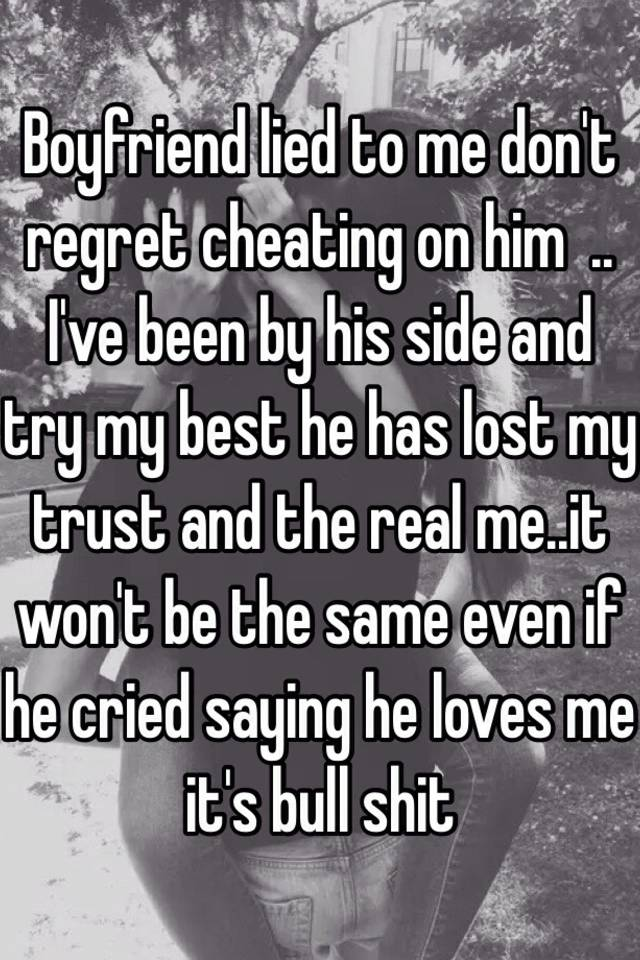 Regret cheating on my husband