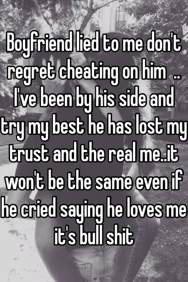 Regret cheating on my husband