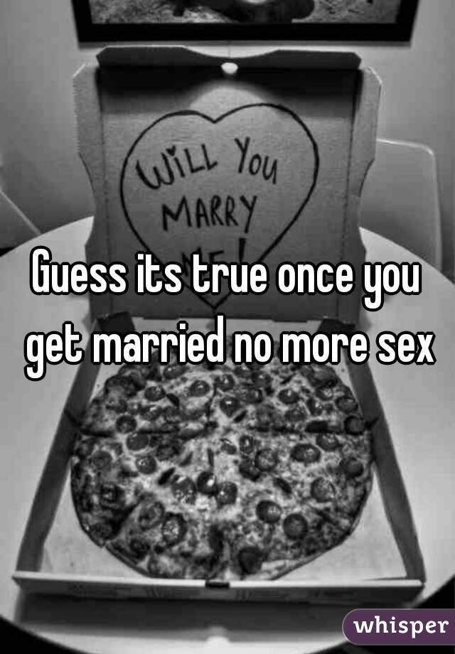 No more sex in the marriage