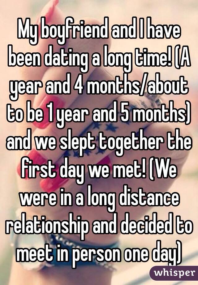 four months dating