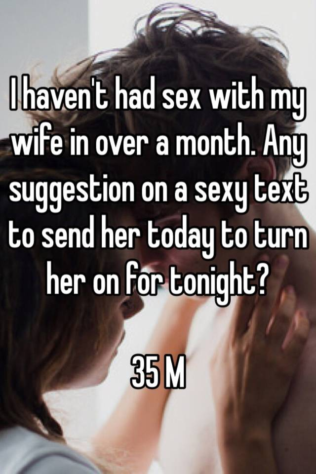 Sexy text to wife