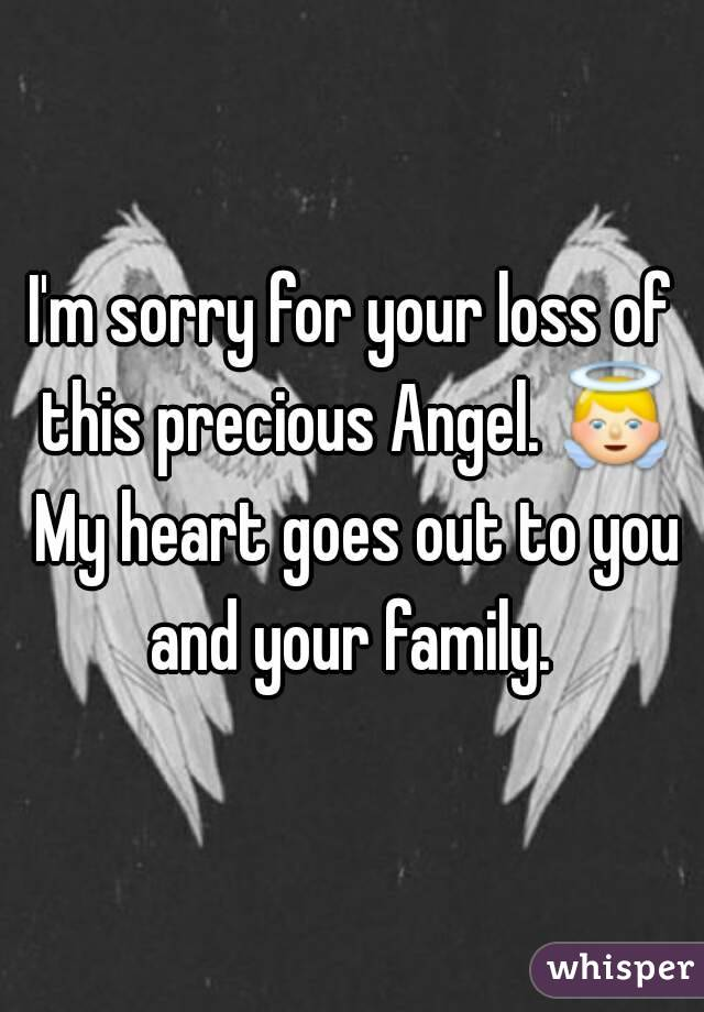 how to say i m sorry for your loss
