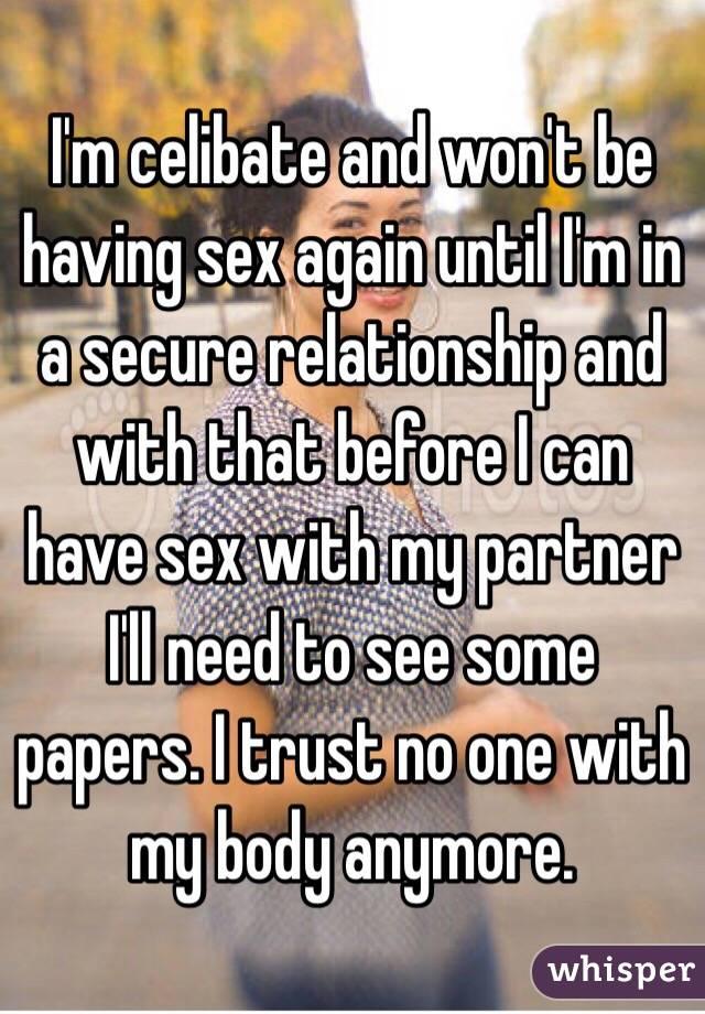 Having sex before relationship