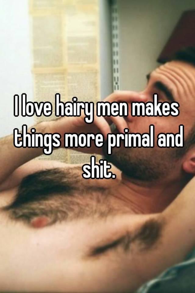 Hairy men making love