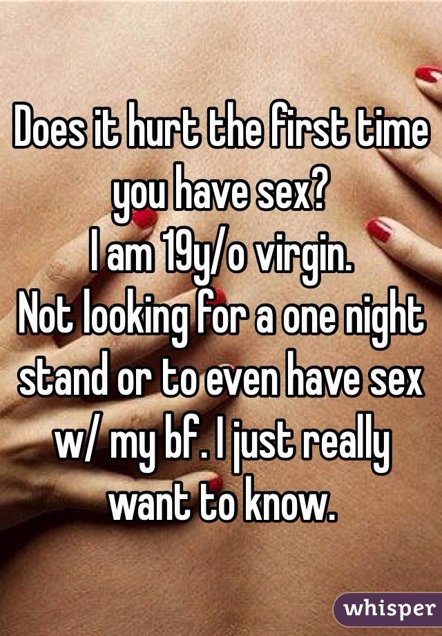 Why does it hurt when i have sex