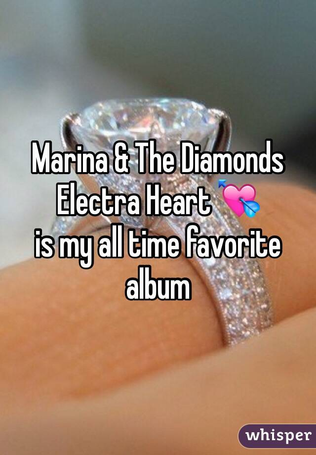 Marina & The Diamonds Electra Heart 💘 is my all time favorite album