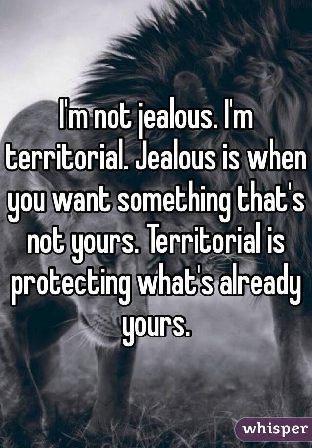 I am just a jealous guy