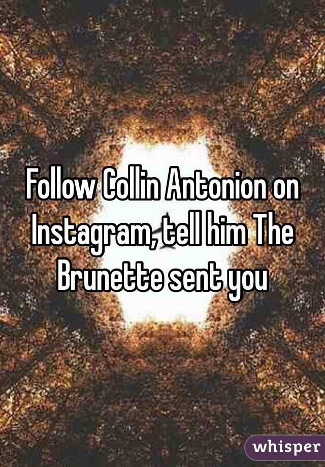 Follow Collin Antonion on Instagram, tell him The Brunette sent you
