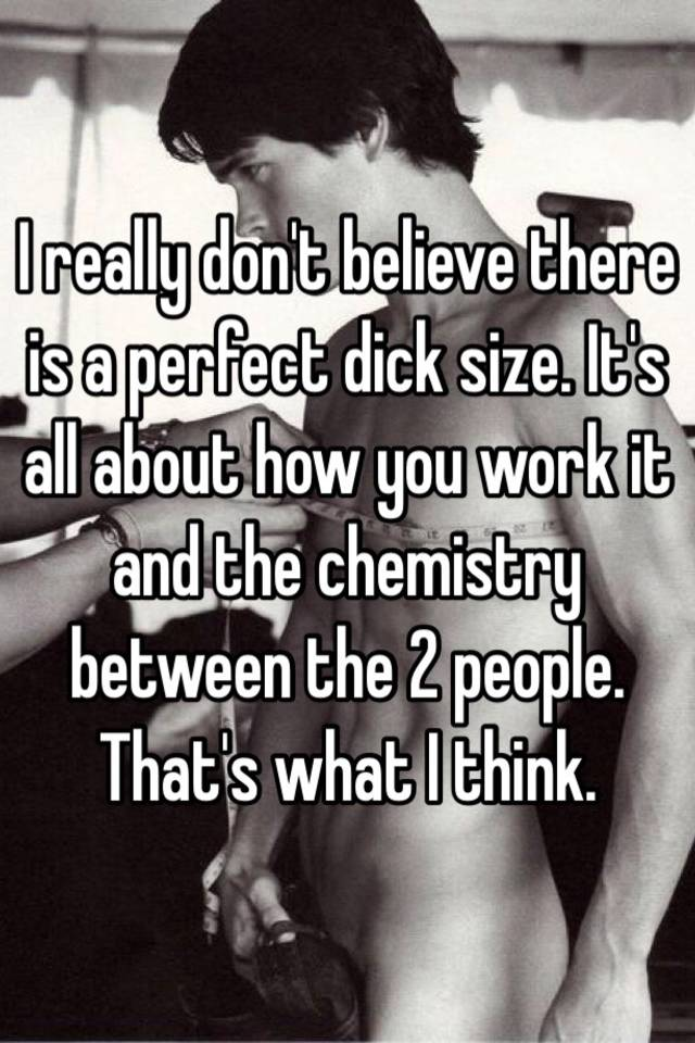 perfekt dick størrelse