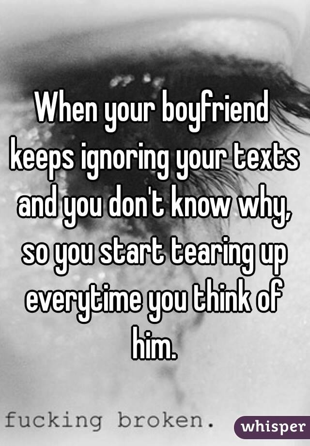 what to do when a guy ignores your texts