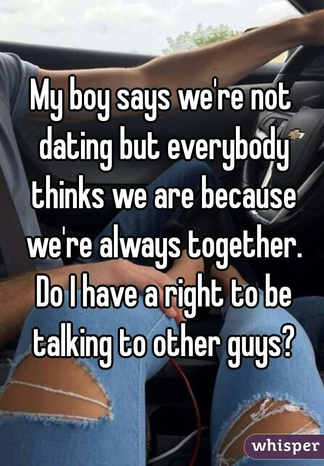 Together We Dating Not Are But