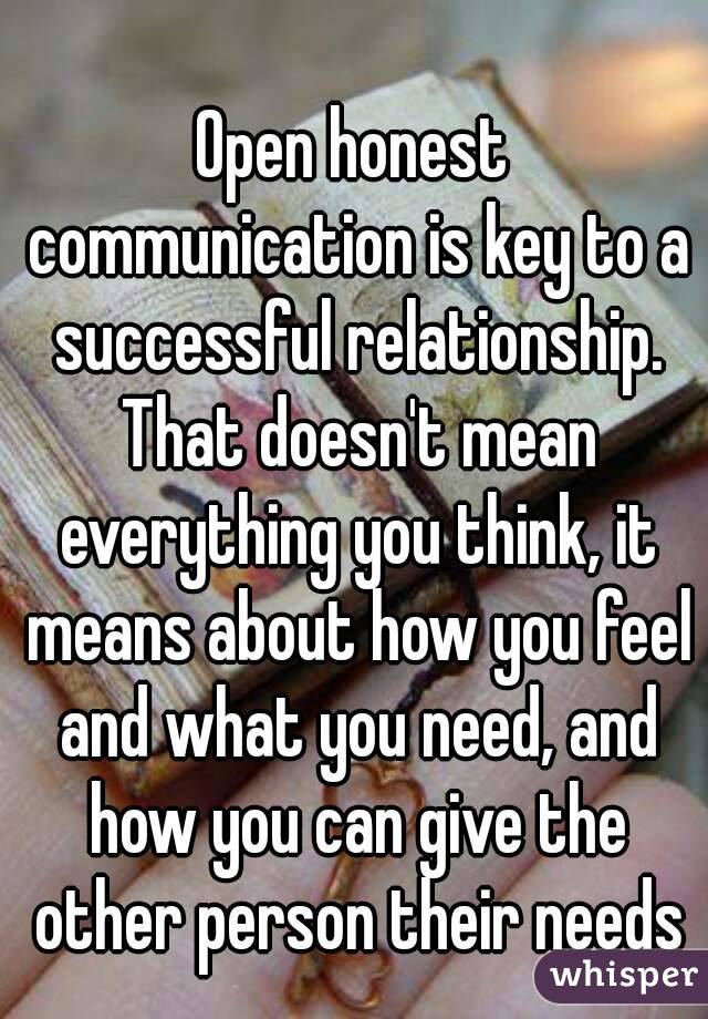 communication is the key to a successful relationship