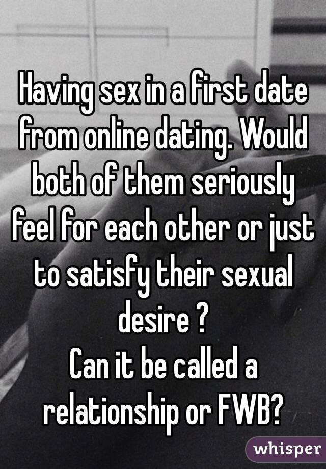 online dating first date