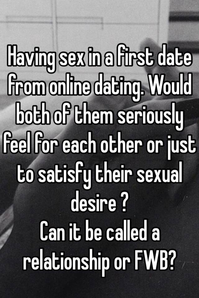 Having sex on your first date