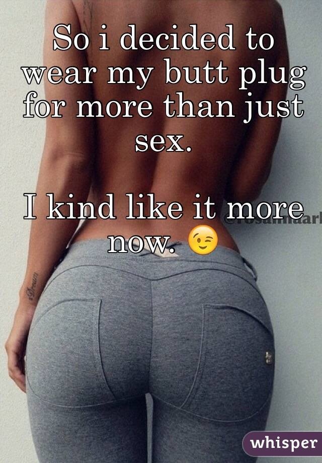Butt plug sexual stories