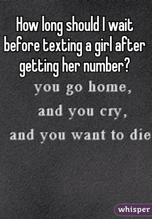 texting a girl after getting number