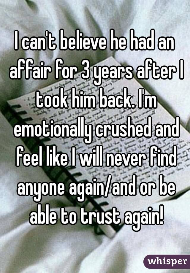 how to trust again after an affair