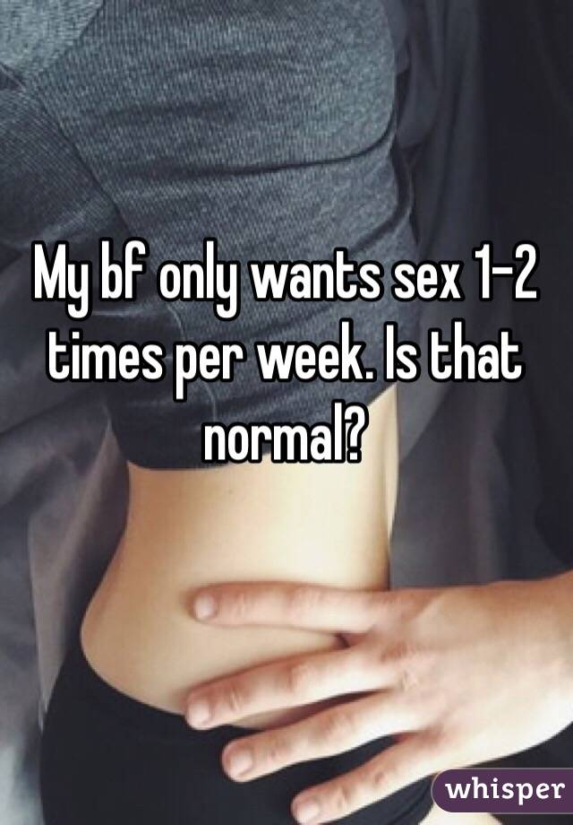 My bf only wants sex 1-2 times per week. Is that normal?