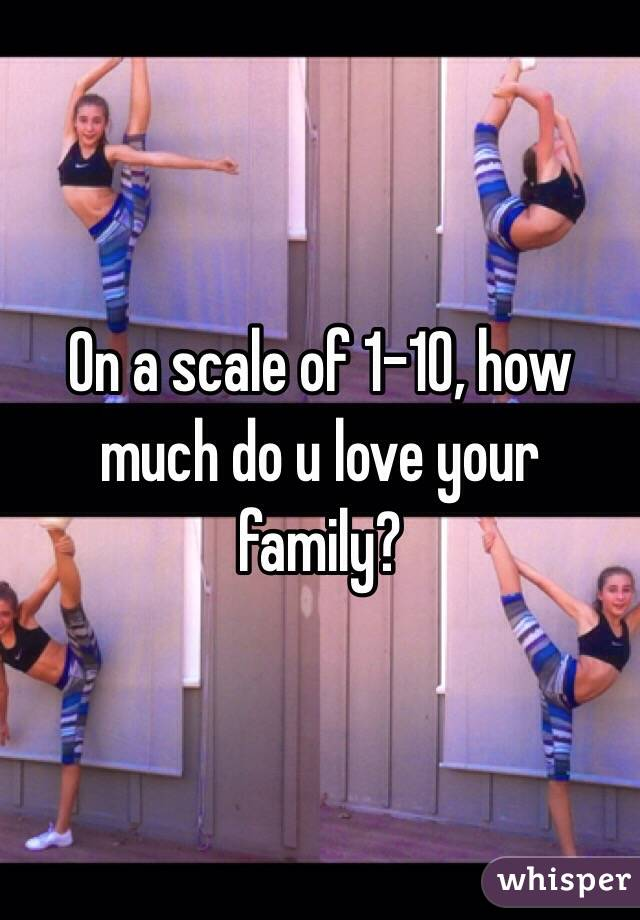 On a scale of 1-10, how much do u love your family?