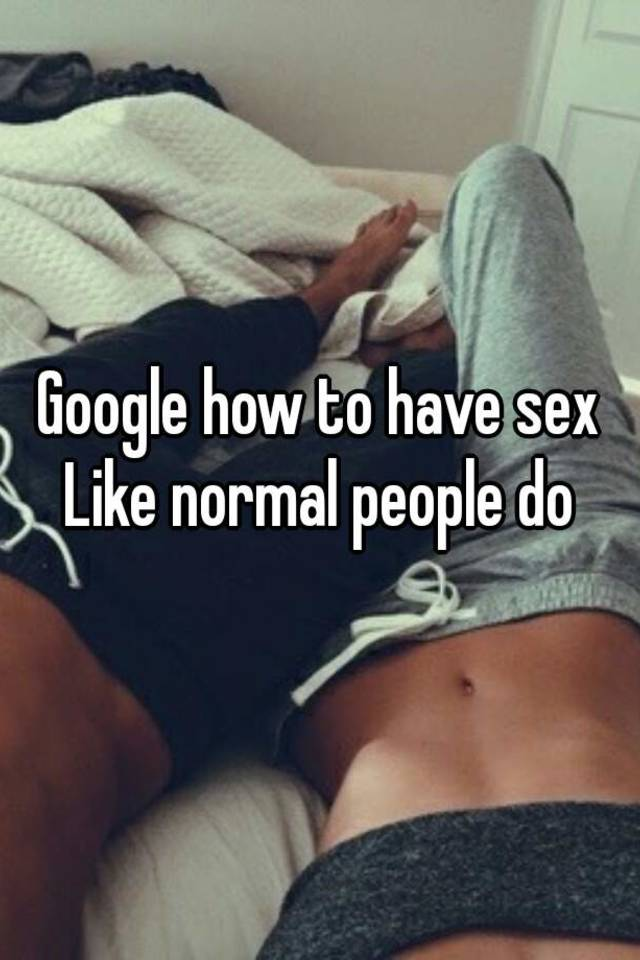 Sex pics of normal people