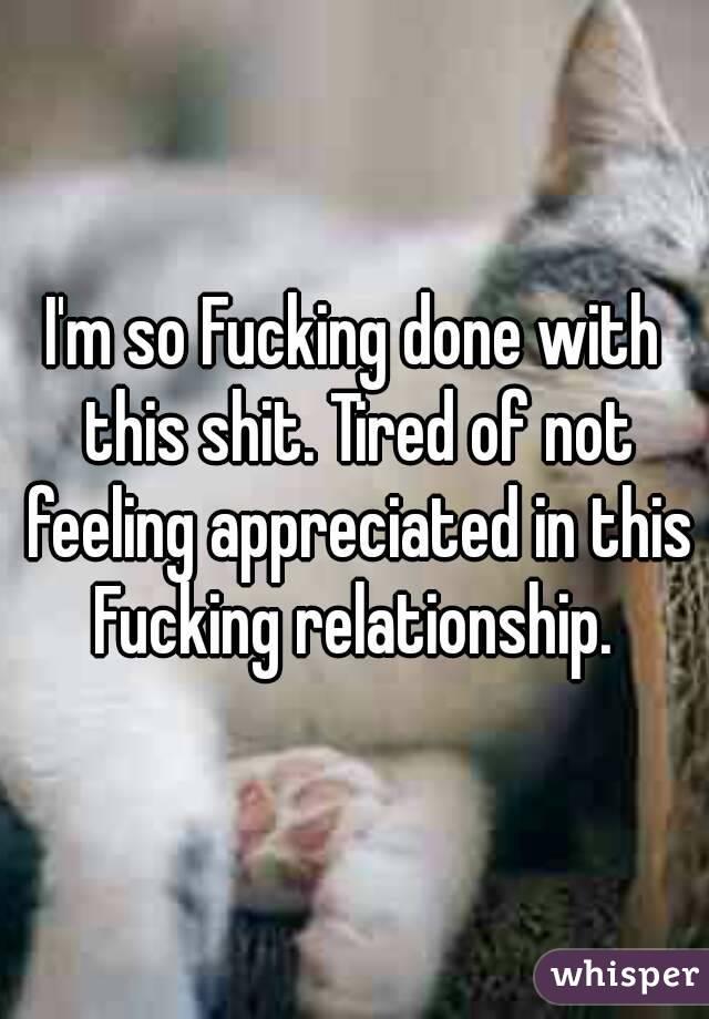 not feeling appreciated in relationship