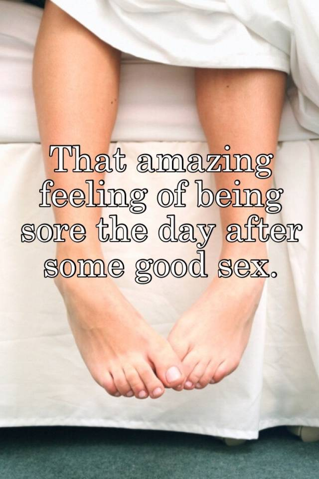 Sore After Sexually Active