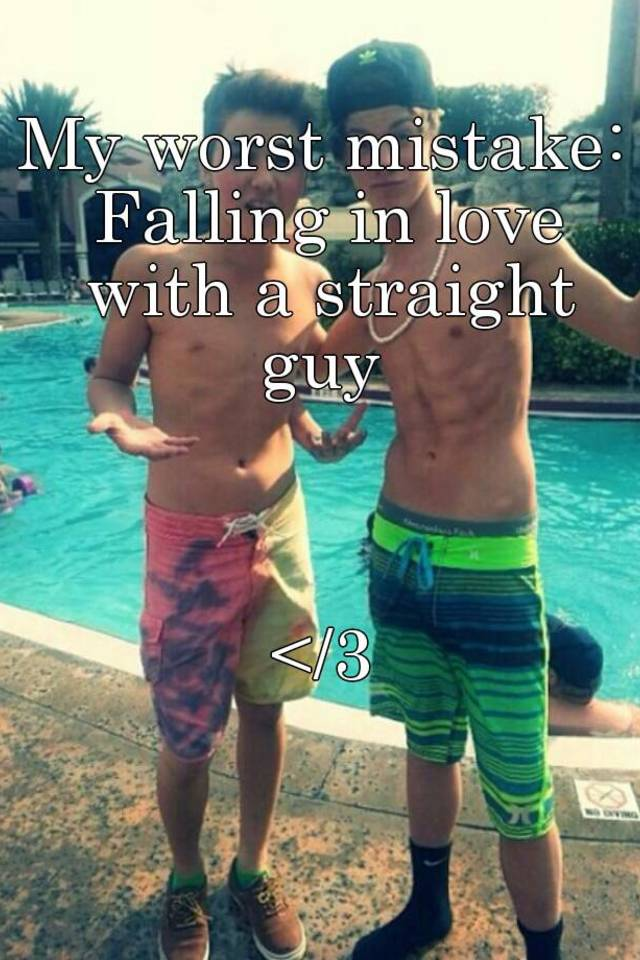 Straight man fall in love with another man