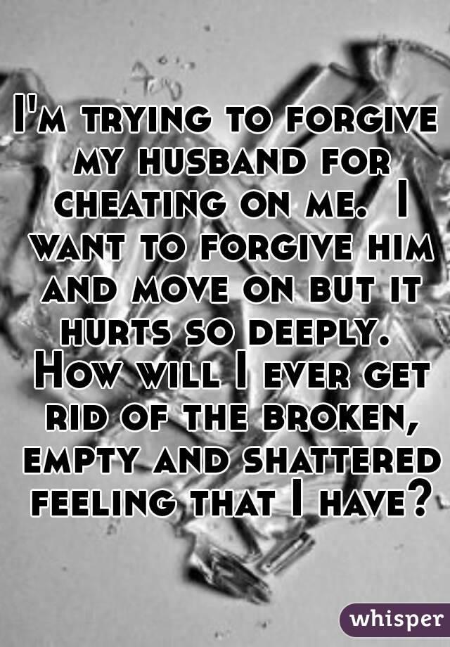 Forgiving a cheating husband