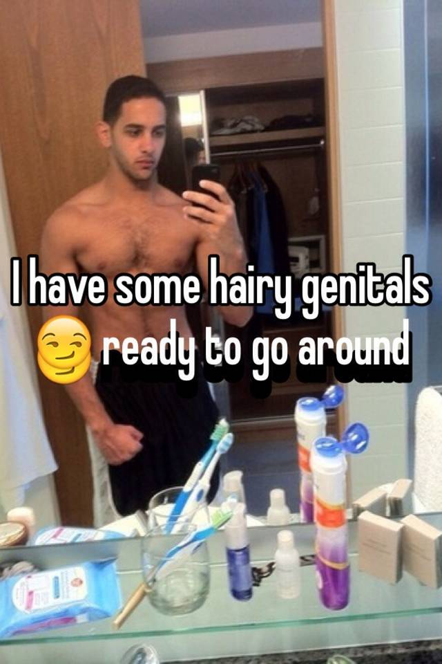 Hairy genitals