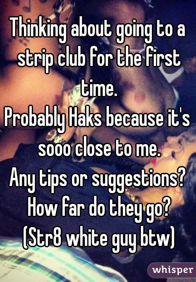 first time at a strip club