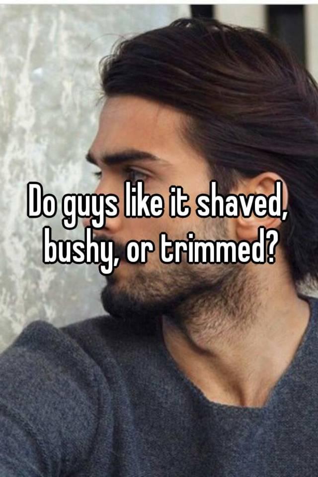 Shaved or bushy something